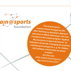 "brain@sports summerschool 2018: "" applied neurosciences in sports & exercise"""